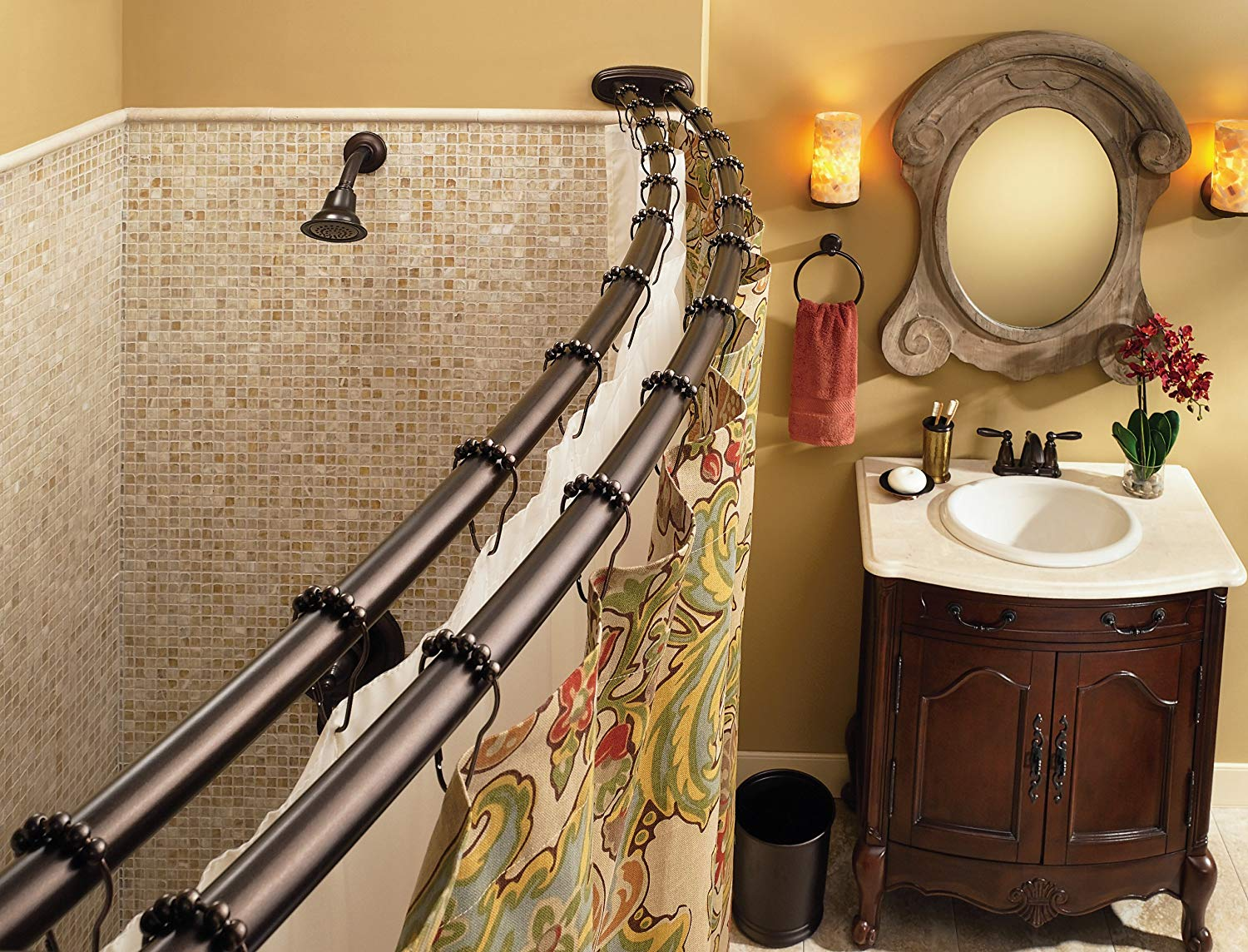Best Shower Curtain Rod For Tile Reviews Shower Island